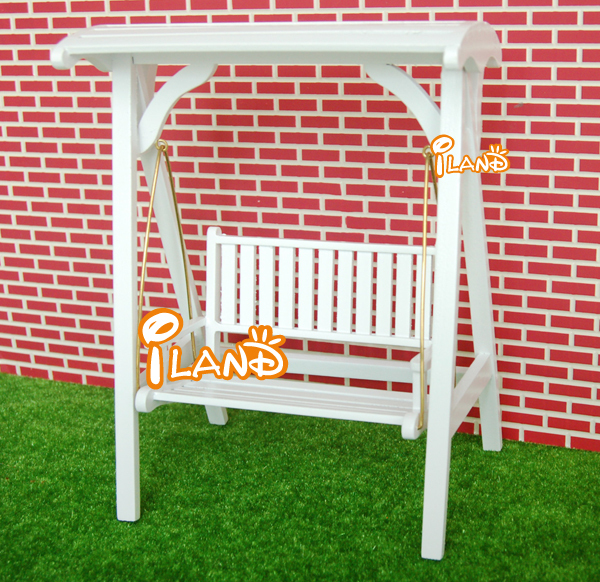 Genial 1:12 Dollhouse Miniature Garden Furniture White Swing Wooden In Dolls  Accessories From Toys U0026 Hobbies On Aliexpress.com | Alibaba Group