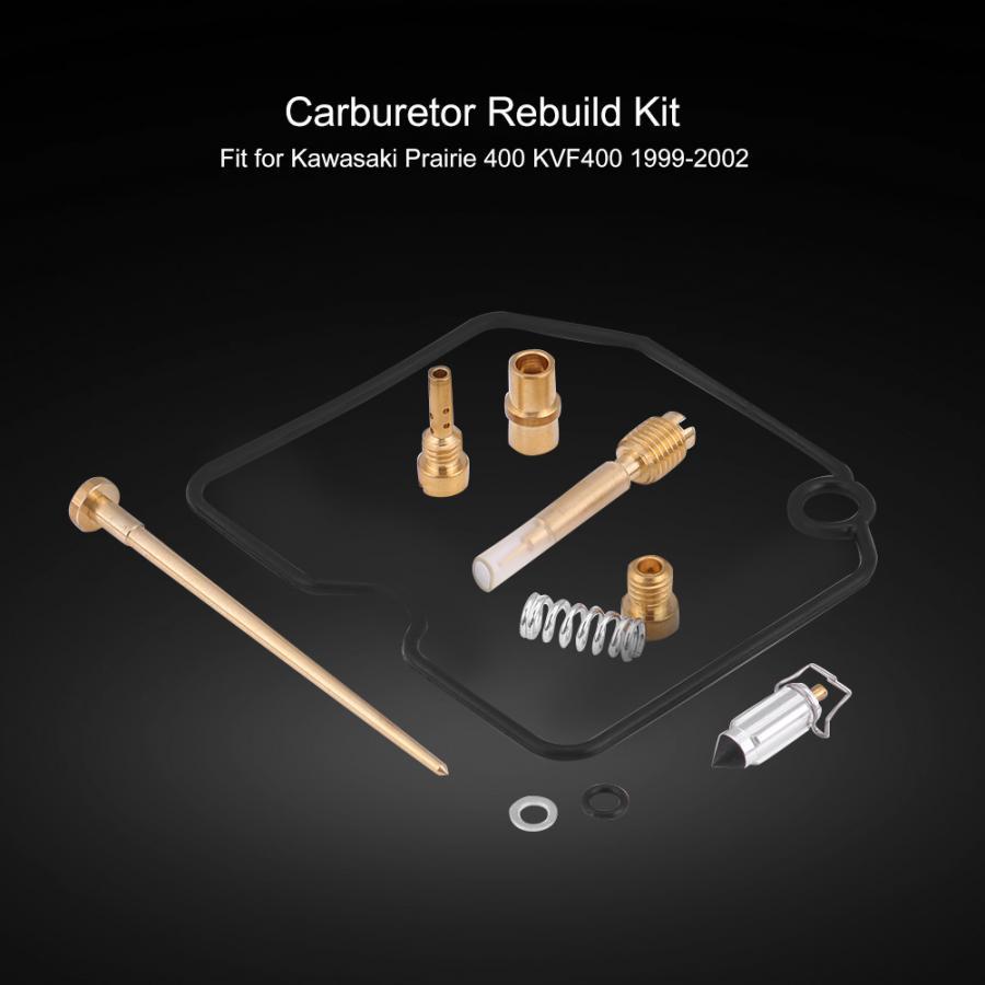 fuel supply carburetor rebuild kit carb repair tool for kawasaki prairie  400 kvf400 1999-2002