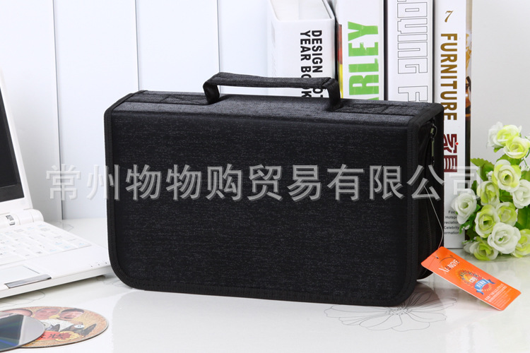 A Ausuky Extra large Capacity 128 Disc Capacity DVD CD Case holder for Car Media Storage CD Bag -32