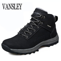 Men Boots Winter With Fur 2017 Warm Snow Boots Men Combat Shoes Footwear Fashion Male Winter