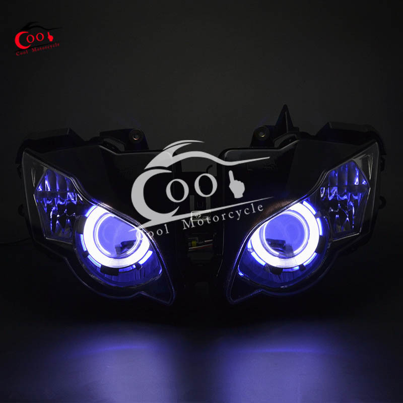 1 X Modified Headlights Projector Headlight Angel Eye HID For Honda CBR1000RR CBR1000 RR CBR 1000 RR 2008-2011 NEW