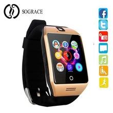 Купить с кэшбэком SOGRACE Q18 Bluetooth Smart Watch Russian Support SIM TF Card Camera For Android/IOS Xiaomi/Huawei/iphone Smartphone Watch 45