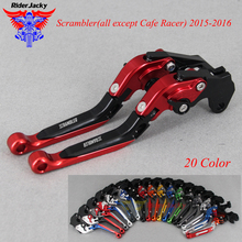 CNC Extendable Foldable Motorcycle brake Clutch Levers For Ducati Scrambler(all except Cafe Racer) 2015-2016