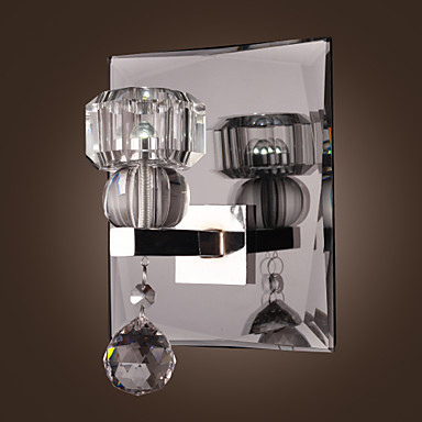Living Room Crystal Wall Sconces : ?Stainless Steel Plate Modern LED Crystal Crystal Wall Lamp ( ^ ^)? Lights Lights With 1 Light ...