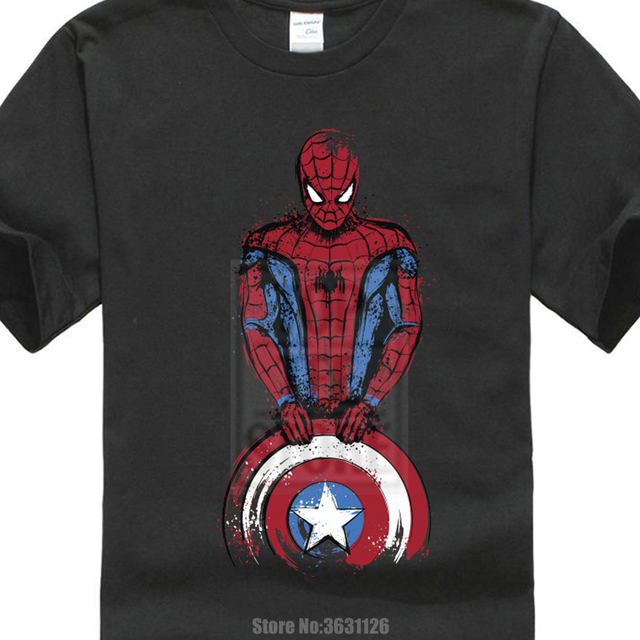 Lustige T Shirt Spinne Mann Ist Kommende Kapitän Spiderman Marvel Shirt Avengers Männer 3d Druck Hemd