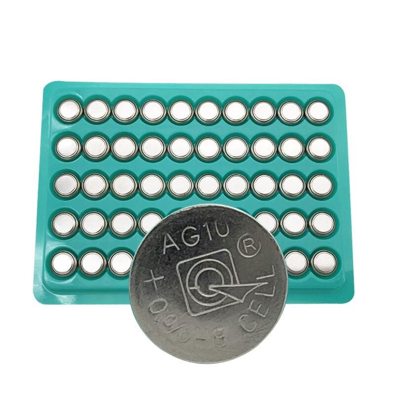 50pcs AG10 LR1130 1130 SR1130 389A LR54 L1131  1.5V Button Battery MP3 Players,Toys Watch Batteries Zn/MnO2 Batteria