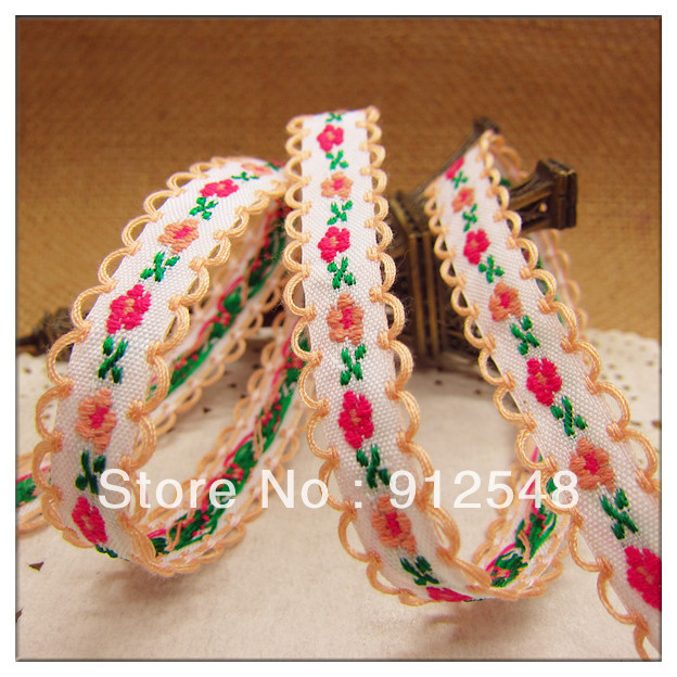 free shipping 3 8 10mm chromophous embroidery ribbon laciness font b mobile b font font b