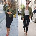 Cotton Fashion UK Womens MA1 Classic Padded Bomber Jacket Ladies Vintage Zip up Biker Coat