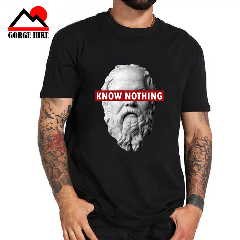 Alfa Romeo Juego De Tronos tshirts parody style Printed Tshirt Men   T     shirt   KNOW NOTHING SOCRATES - Philosophy Graphic   T  -  Shirt
