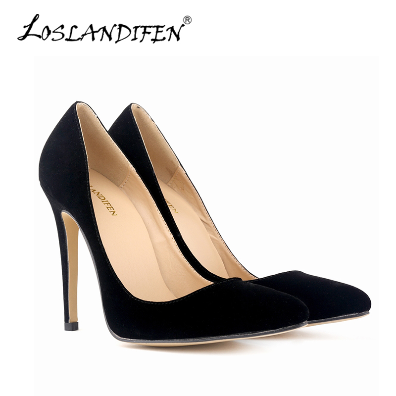 New Fashion Pointed Toe High Heels Women Pumps Courts Shoes Faux Velvet Spring Autumn Female Work Pumps Wedding Shoes 302-1VE fashion desigual 2015 new arrival women high heels shoes pointed toe ladies pumps luxury rhinestone female wedding pumps dj 006