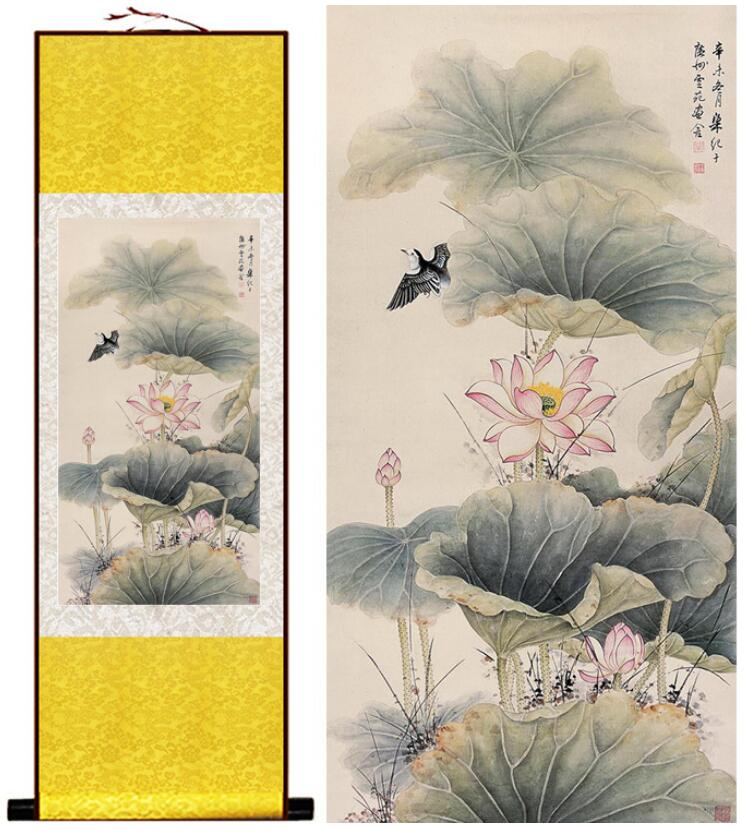 Lotus Flower And Birds Traditional Chinese Art Painting Chinese Ink