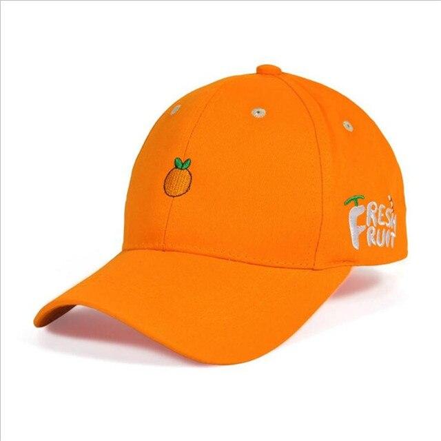 60a784e1857 xiangzhou men women Orange Dad Hat Baseball Cap Fruits Style Embroidery  FRESH FRUIT Unconstructed Fashion Unisex