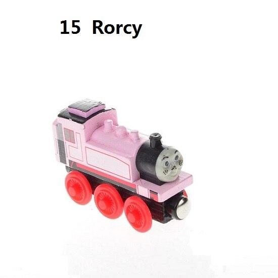 Деревянные магнитные паровозики, игрушки для железной дороги, деревянные паровозики для детей, подарок для детей, модель поезда - Цвет: Арбузно-красный