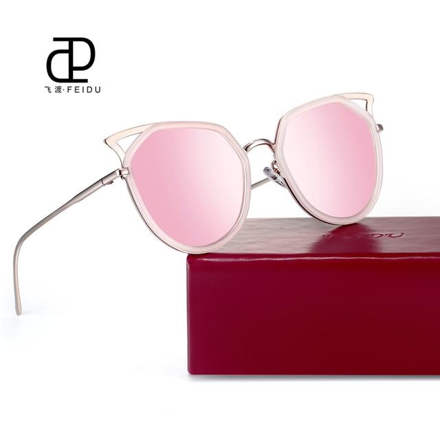 FEIDU Vintage Women Sunglasses Brand Design Cat Eye Sunglasses Alloy Frame  Luxury Sun Glasses Oculos de 761cf7f50d