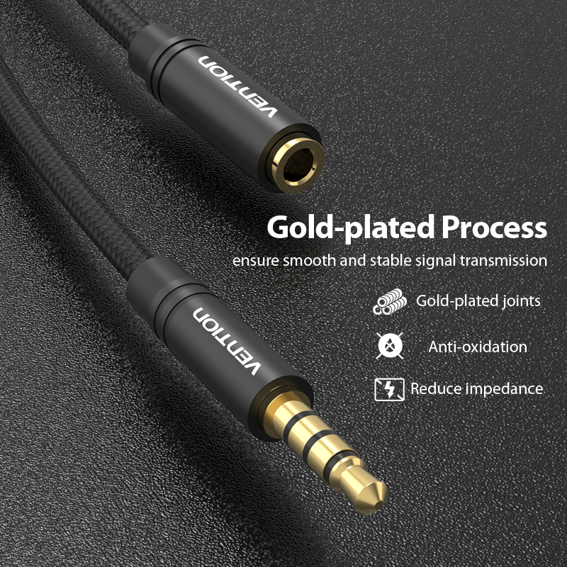 Image 5 - Vention Aux Cable Jack 3.5mm Audio Extension Cable for Huawei P20 Stereo 3.5 Jack Aux Cord Adapter for Headphones Xiaomi Samsung