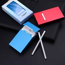 New Ultra Thin Fashion Pipe Creative Personality Cigaret Case Slim Metal Cigarette Box Aluminum Gift Mini Holder