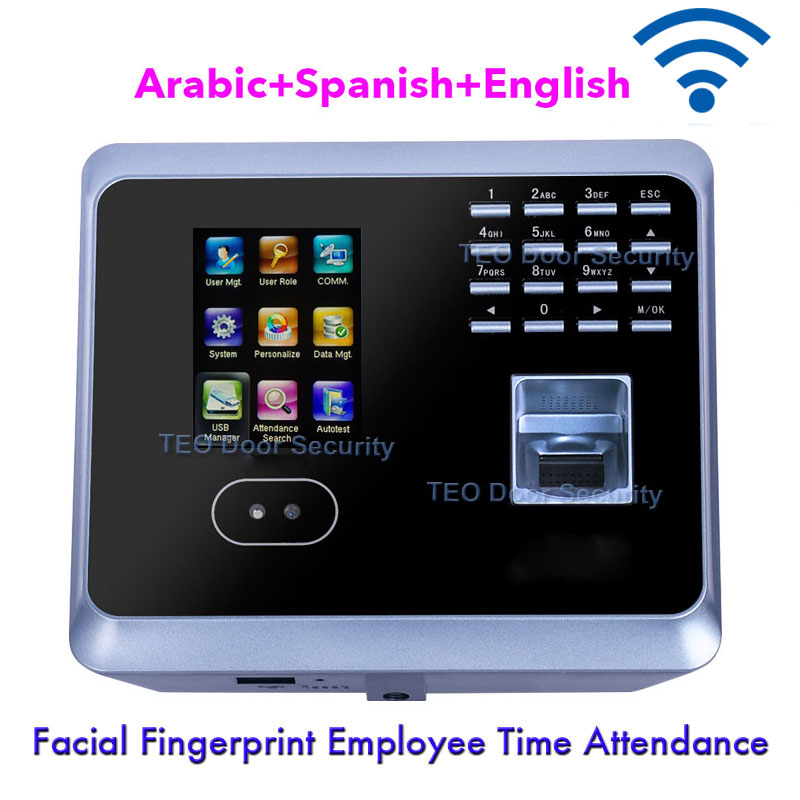 Big Capacity and Log Entries USB Host and Transfer Yes Original Biometric Face /& Fingerprint Time attendance,2.4 TFT Color Screen Log in via Face or Fingerprint or PIN,Power by Backup Battery 2.4 TFT Color Screen