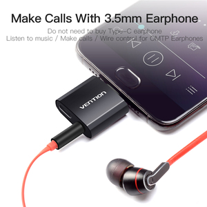 Image 3 - Vention USB C ถึง 3.5 มม.หูฟังอะแดปเตอร์ชาร์จ Type C แจ็ค 3.5 Type C หูฟังแปลงสำหรับ xiaomi Mi6 Huawei P20 Pro