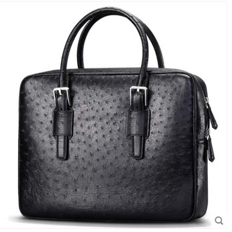 Cestbeau South Africa imported ostrich leather hand bag  genuine genuine leather with natural texture men bag business