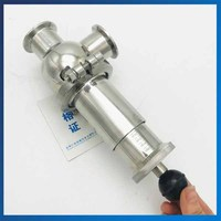 Food Grade Sanitary Spring Loaded Safety Valve Install Relief Valve