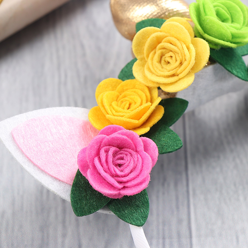 2d383696ba33c 1PC Gold Unicorn Hairbands or Hairpin Beautiful Rose Flower Unicorn Party  Stretch Headband Hair Clips Girl Hair Accessories-in Hair Accessories from  Mother ...