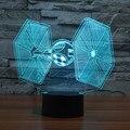 Star wars titanium3d visual novelty usb led luces de la noche del usb potencia Lámpara de Sensor táctil Lámpara de Escritorio Dormitorio de la lámpara de Vacaciones IY803405