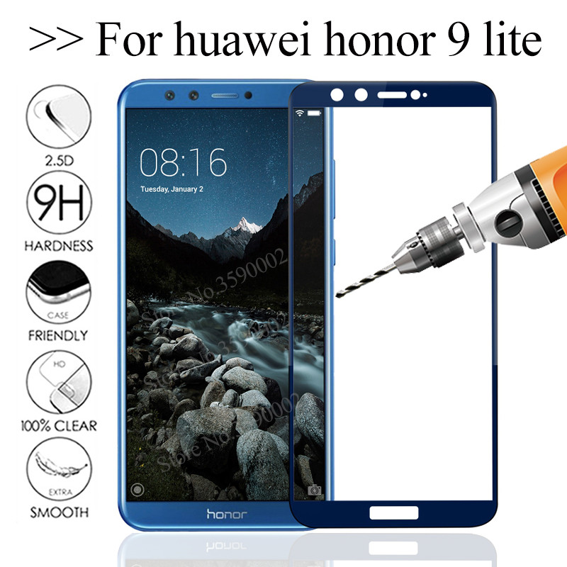 3D Safety Glass Honor 9 Lite Protective Glass For Huawei Honor 9 Lite Tempered Glass On Hono 9 Light Screen Protector Glas Cover