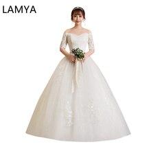 New Fashion Wedding Dresses Lace Up 2019 Vintage Plus Size Bridal Gowns Vestido De Noiva china online store