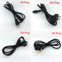 3-Prong 1.2m EU US AU UK 4 Feet Power Line 3 Pin Cable AC Power Supply Adapter Cord Cable For PC Laptop