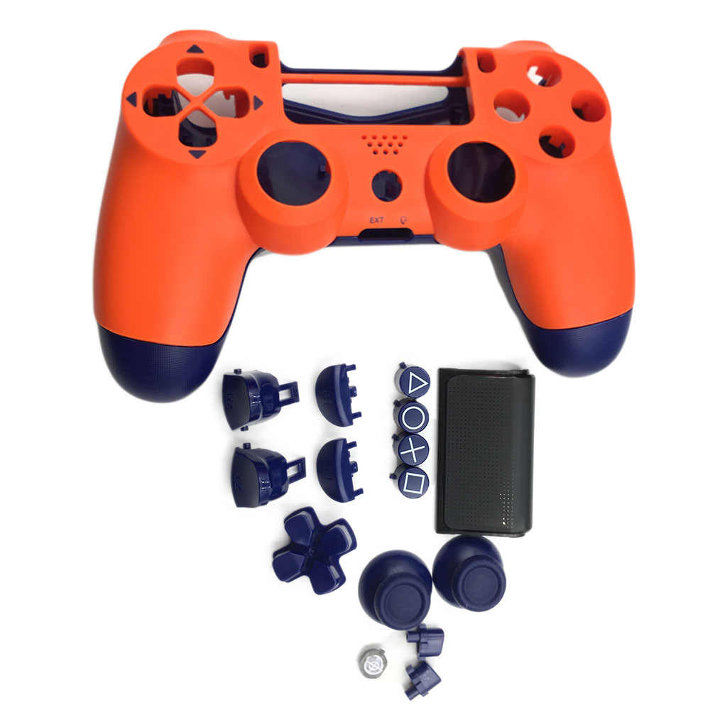 Kits de repuesto para PS4 Pro Slim 4,0 JDS 040, carcasa naranja, carcasa, carcasa, botones y botones de Berry Blue & Sunset