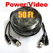 50ft 15M Video Power CCTV Cable With BNC Male For Security Camera a75
