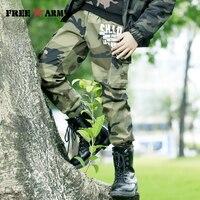 FREEARMY Teenage Boy Clothing Kids Camouflage Trousers Kids Pants Boys Trousers Camo Pants Military Pants Big Size8 10 12 14 16