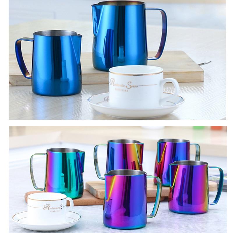 ROKENE Stainless Steel Titanium Blue Espresso Coffee Pitcher In font b Kitchen b font font b
