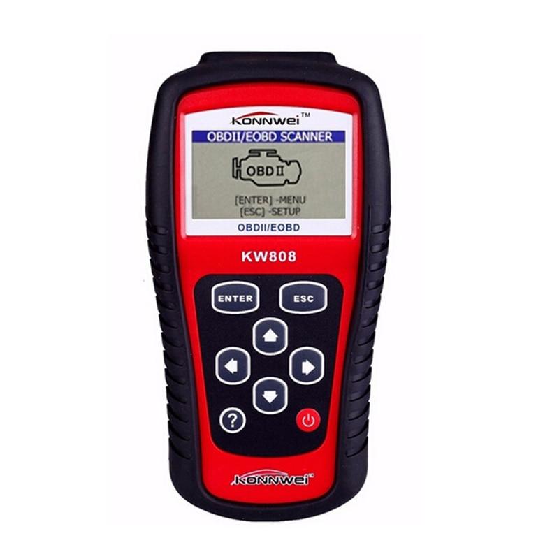 Цена за KONNWEI KW808 OBD2/EOBD Диагностики Автомобилей Авто Сканер Диагностический Инструмент Для Автомобилей Код Ошибки Чтения Автомобиля Детектор Автомобильный Инструмент