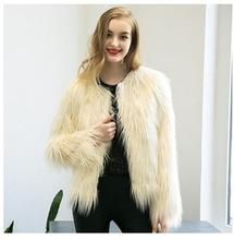 Womens Autumn Winter Long Sleeves Fur Coats Causal Short Plus Size Man-Made Fur Jackets Clothes Outwear Faux Fur Coat J1652-4