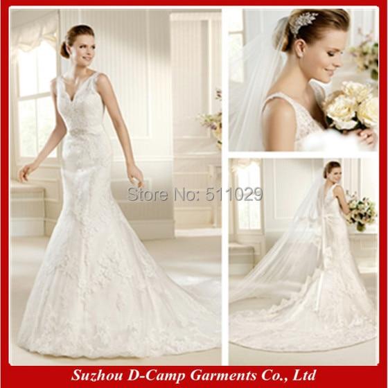 FREE SHIPPING WD-2487 Sexy low cut mermaid wedding dress factory direct wedding  dress fish tail wedding dress bee0839116f2
