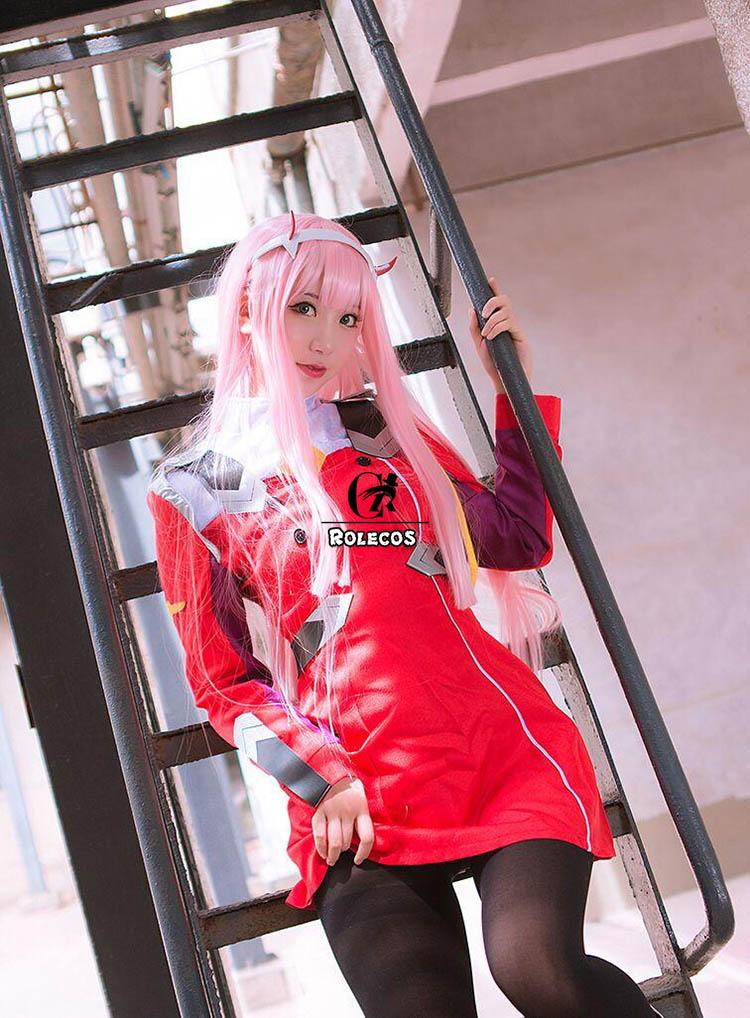 vestido querida no franxx 02 cosplay traje