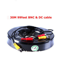 Security CCTV BNC 30M 99 feet Power Video Plug and Play Cable for Security CCTV Camera 2pc/lot free shipping cbdz cam