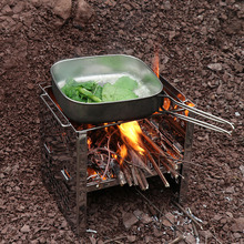 6pcs Cup Camping Picnic Cookware Kit Pot Pan Hiking Dishes Stainless Steel Cook Utensils BBQ Backpacking Campfire Portable