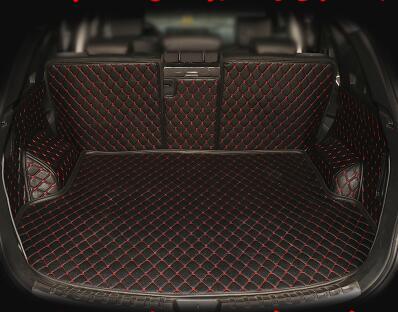 High quality mats Special trunk cargo mats for Hyundai Santa Fe 5 seats 2017 waterproof boot