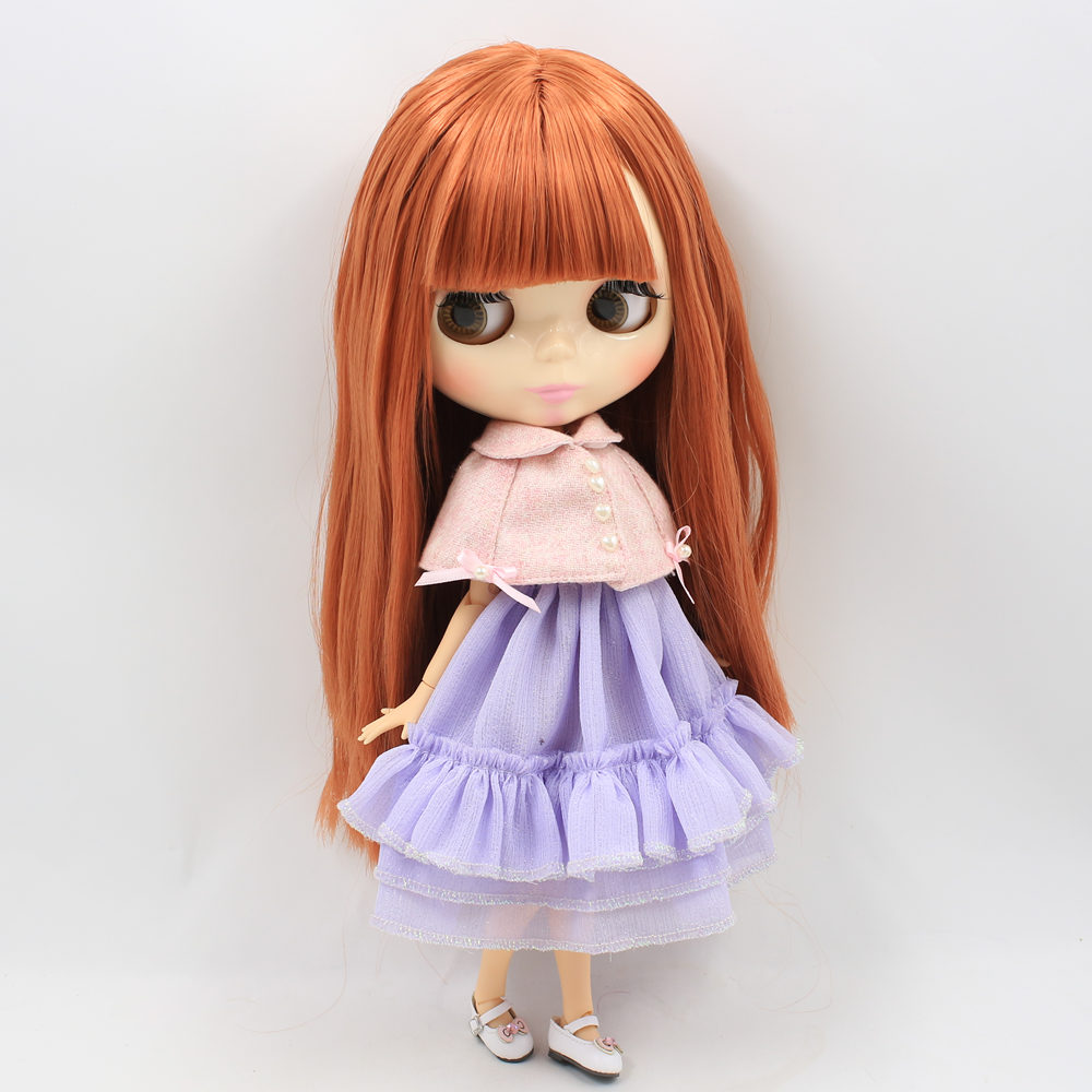 ICY Nude Factory Blyth Doll Series No 260BL0484 red Brown hair white skin Joint body Neo