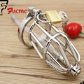 2015 Hot Sexy Slave Male Metal Chastity Device Small Size Cock Cages Urethral Catheter Men's Virginity Lock Penis Ring Sex Toys