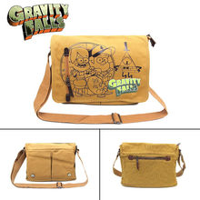 Gravity Falls Dragon Ball Death Note One Punch Messenger School Bag Shoulder Bag Cross Body Anime Cosplay Boys Girls Canvas(China)