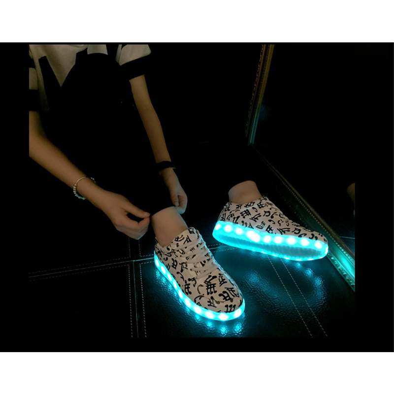 aliexpresscom buy 8 color basket led shoes 2015 led shoes for adults fashion glowing led light shoes chaussure lumineuse basket femme from reliable light - Basket Femme Color