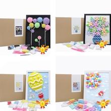 Детские игрушки DIY фоторамка ручной работы супер легкая воздушная сухая глина набор миниатюрная роспись рамка офисный домашний декор творческие подарки