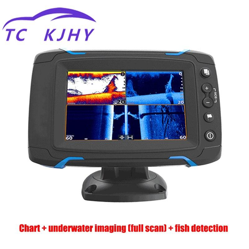 GPS et accessoires graphique balayage latéral balayage complet Sonar détecteur de poisson écran tactile détecteur de poisson Navigation GPS affichage GPS marin