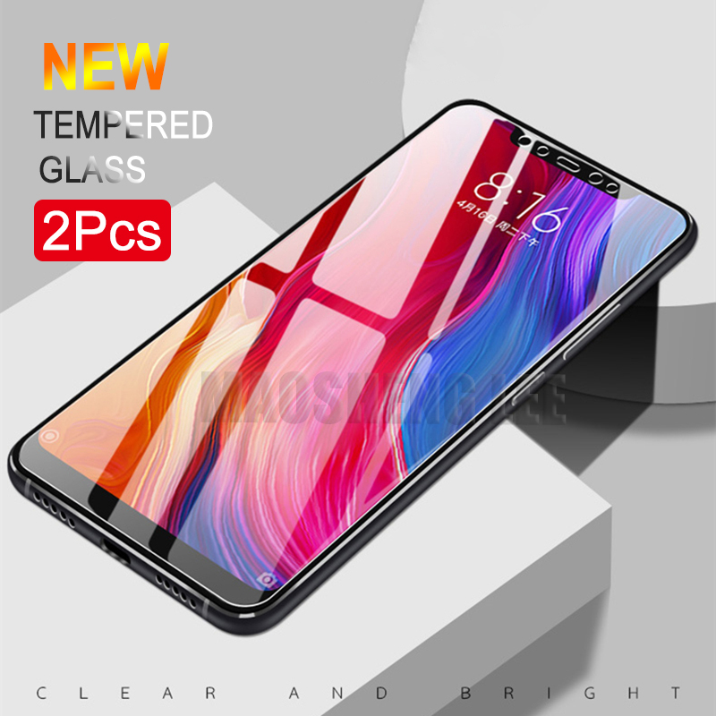 Phone Screen Protectors Mobile Phone Accessories Bright Full Cover Tempered Glass For Xiaomi A1 A2 Lite Screen Protector For Xiaomi Pocophone F1 Mi Max 3 2 Note 3 Protective Glass Film