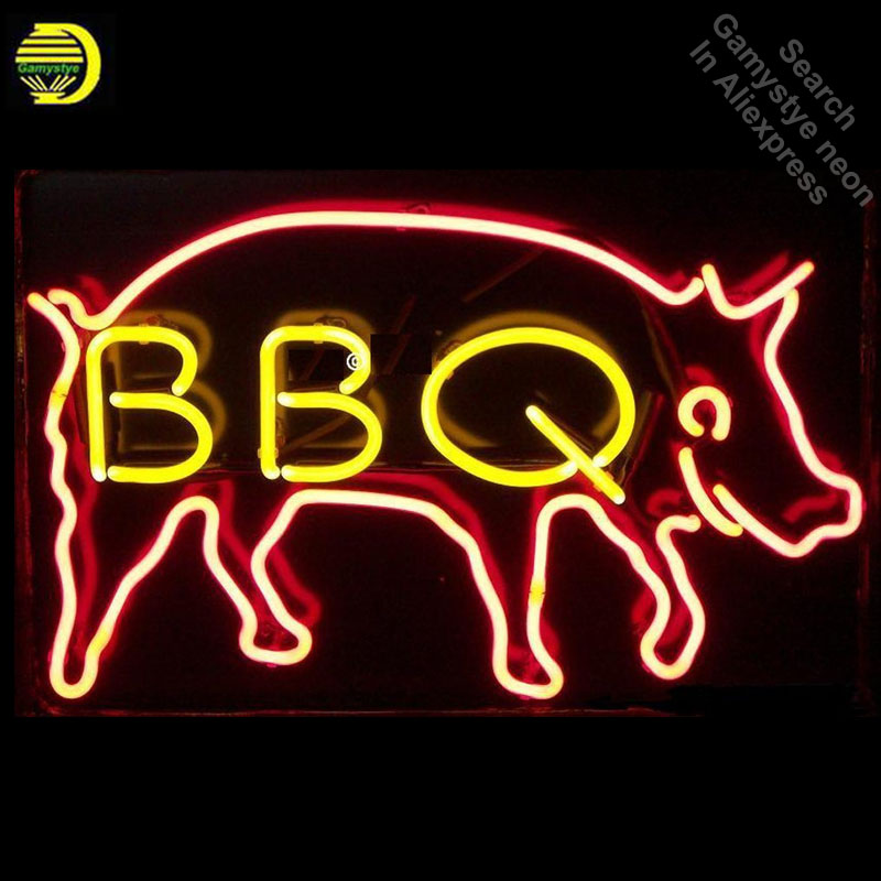 Neon Signs for BBQ Pig Handcrafted Business Neon Bulbs sign Glass Tube Decorate Hotel Restaurant Store Wall Signs dropshippingNeon Signs for BBQ Pig Handcrafted Business Neon Bulbs sign Glass Tube Decorate Hotel Restaurant Store Wall Signs dropshipping