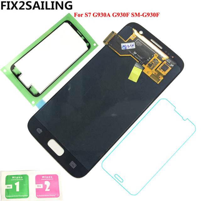 FIX2SAILING 100% Tested Working AMOLED LCD Display Touch Screen Assembly For Samsung Galaxy S7 G930A G930F SM-G930F