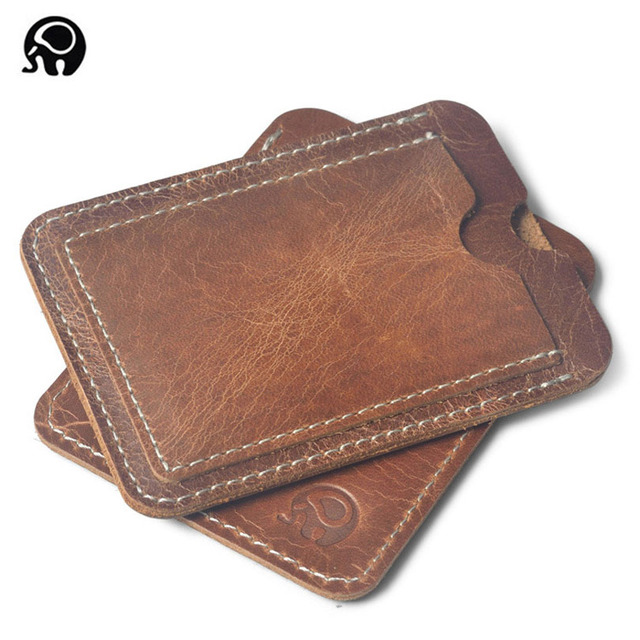 Crazy horse cowhide leather credit card holder genuine leather id crazy horse cowhide leather credit card holder genuine leather id card holders men business id wallet colourmoves Choice Image